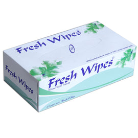 Fresh Wipes - white facial tissues -green - SET OF 6pcs