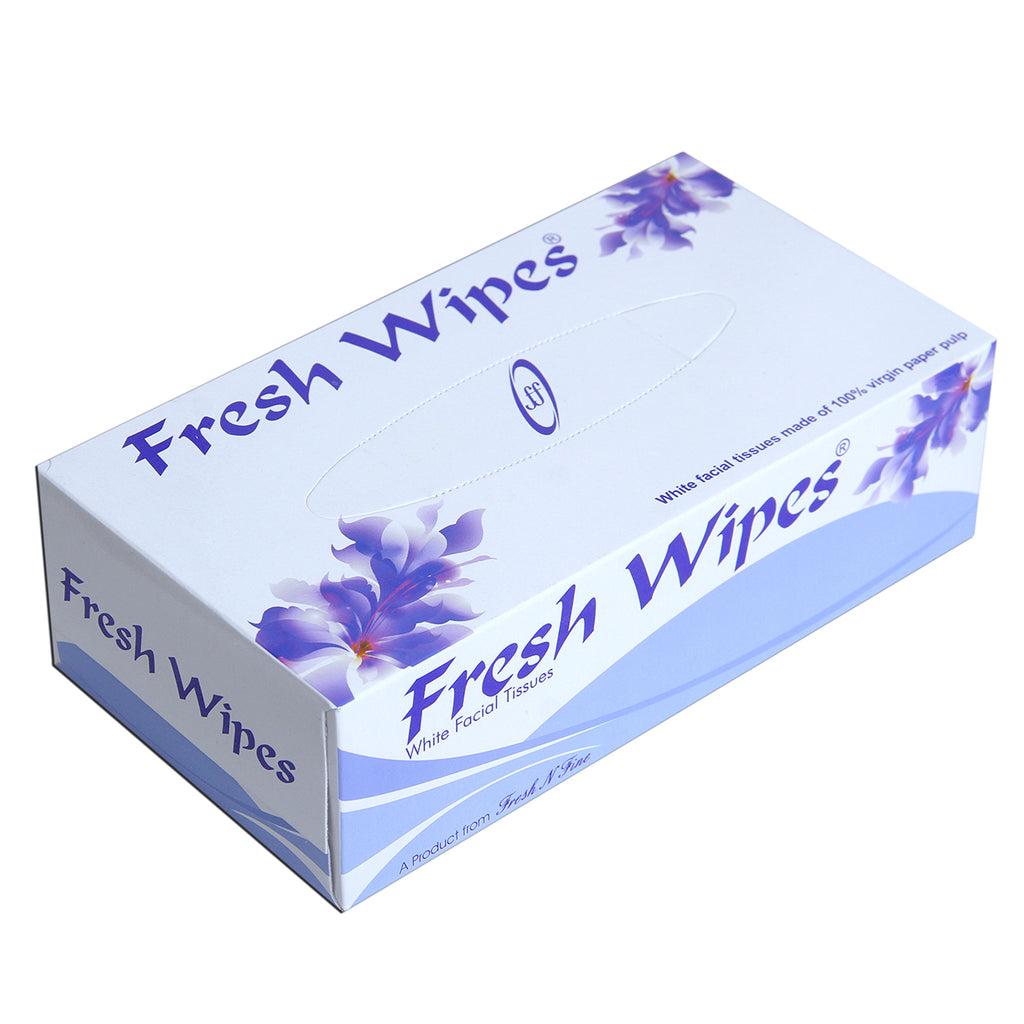 Fresh Wipes - white facial tissues -purple - SET OF 6pcs