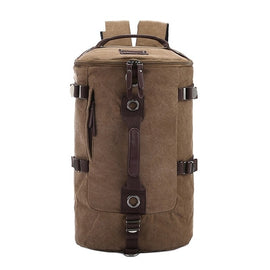 Large Capacity Travel Mountaineering Canvas Backpack Bag