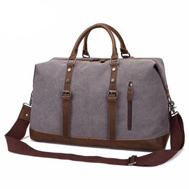 Men Vintage Travel Large Capacity Canvas Tote Handbag