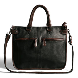 Men Casual Briefcase Business Shoulder Bag Leather
