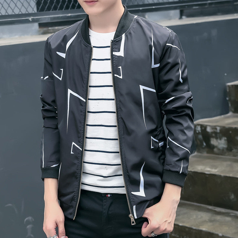 Mens Coats Personality Favors Bomber Jacket Casual Wear