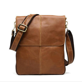 MEN BAG Store Crossbody Bags Gold New Fashion Cowhide Messenger Genuine Leather Crossbody Briefcase For Men