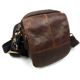 Store Crossbody Bags Genuine Leather Cowhide Messenger Small Waist Shoulder Bags For Men