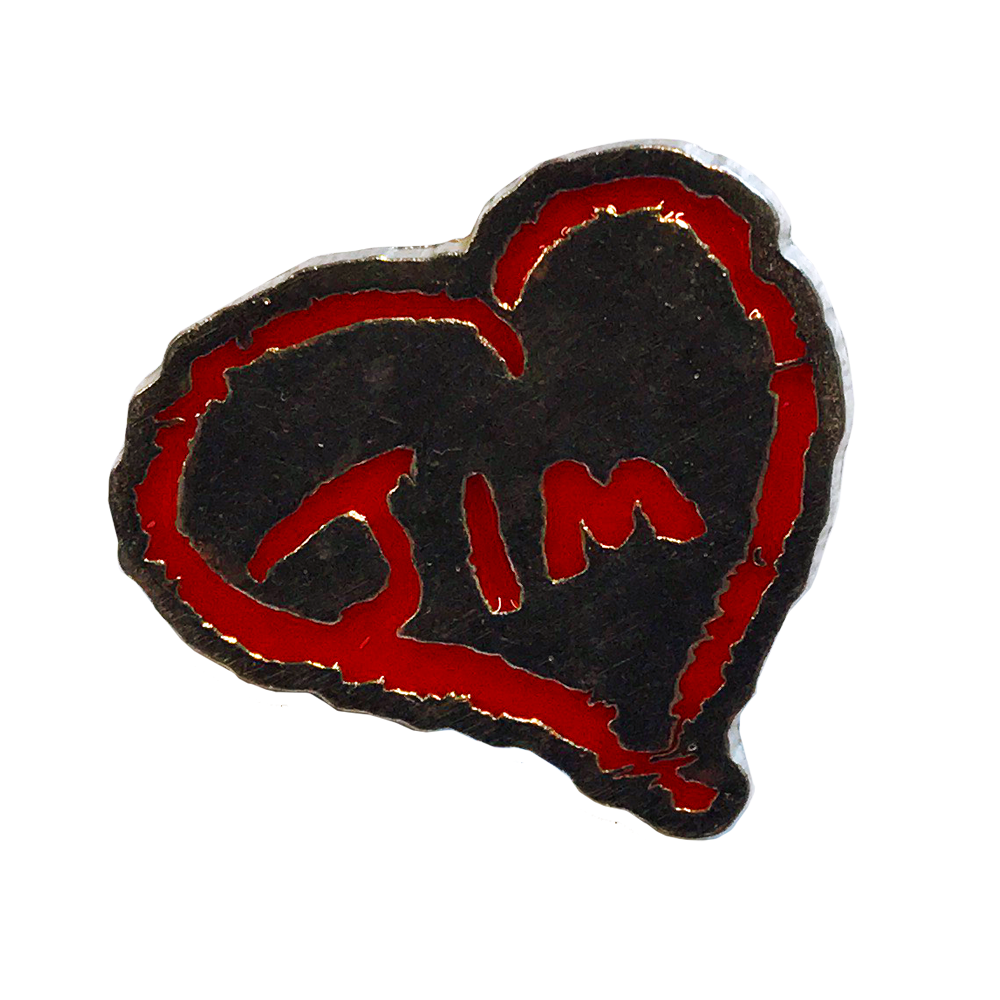 Jim James - Heart Jim Enamel Pin