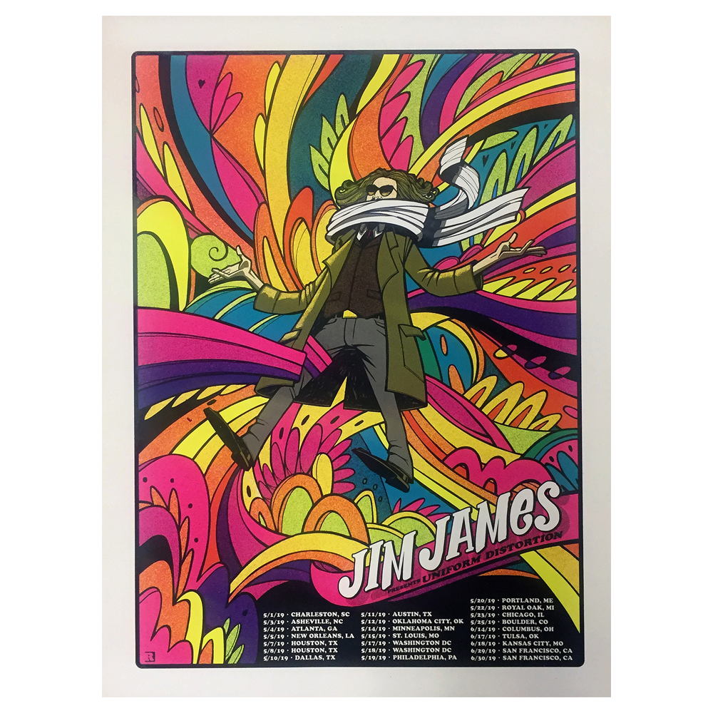 Jim James - 2019 Spring Tour Poster