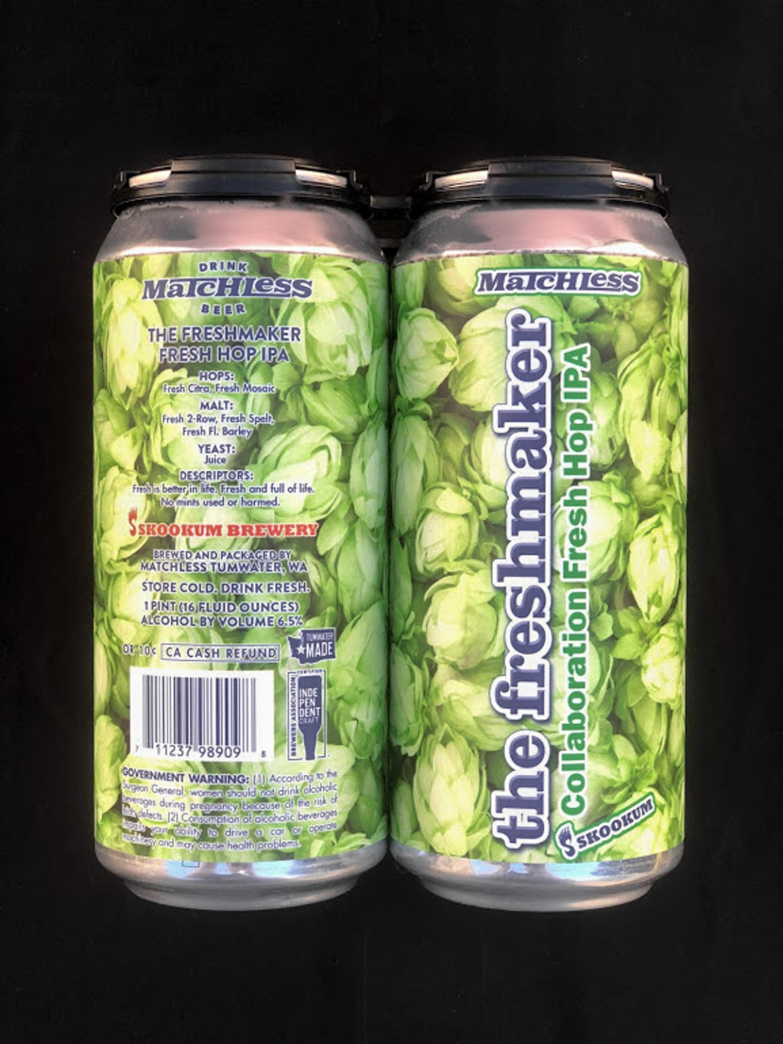 Matchless 'the Freshmaker' Fresh Hopped IPA Details