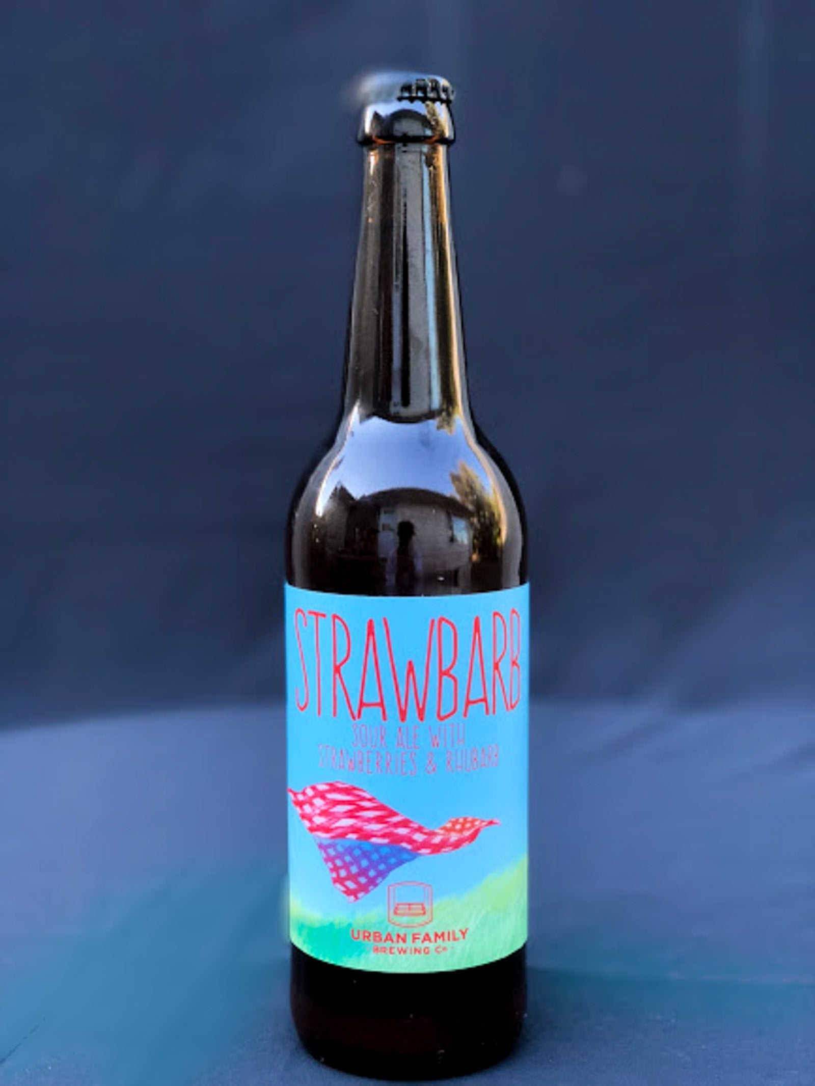 Urban Family Brewing Strawbard Sour Ale with Strawberries & Rhubarb American Wild Ale