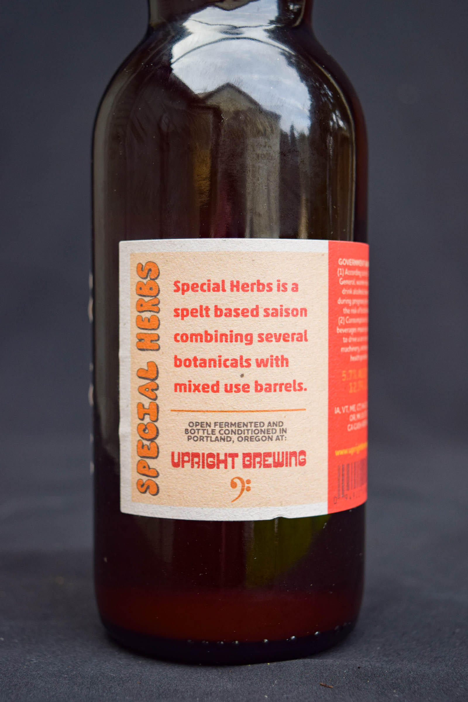 Upright Brewing Special Herbs Saison