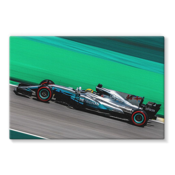 Lewis Hamilton, 2017 Brazilian GP - Stretched Canvas
