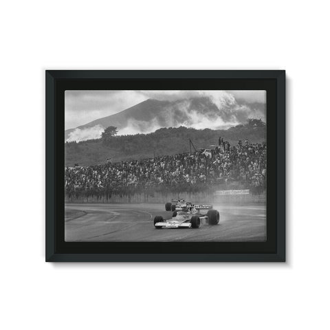 James Hunt McLaren M23 Ford - Framed Canvas