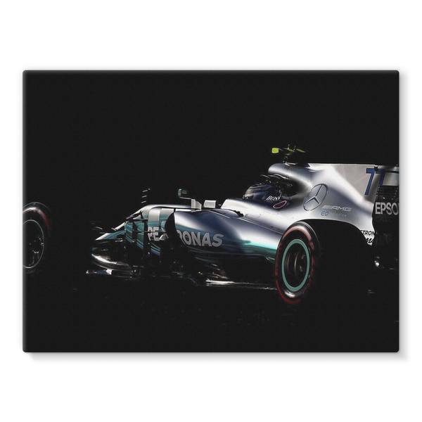 Valtteri Bottas, Mercedes AMG F1 F1 W08 - Stretched Canvas