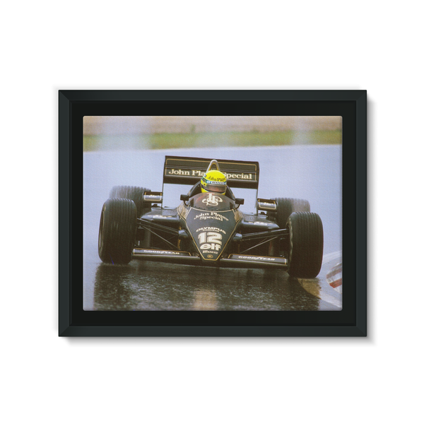 Ayrton Senna's first Formula 1 victory. The 1985 Portuguese Grand Prix.