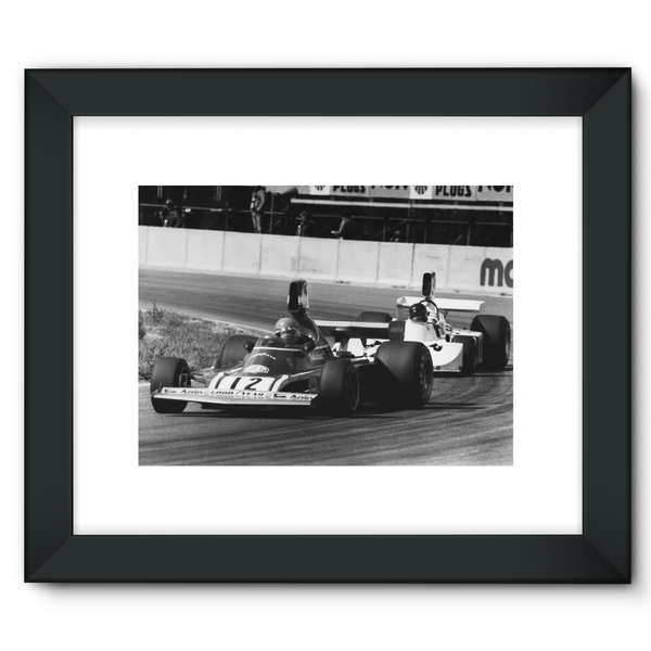 Niki Lauda AND James Hunt - 1974 Swedish Grand Prix - Framed Fine Art Print