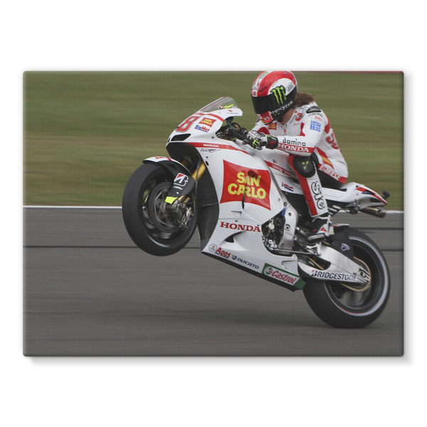 Marco Simoncelli, 2011 British Grand Prix at Silverstone - Stretched Canvas
