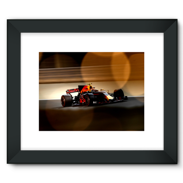 Max Verstappen, Red Bull Racing RB13, Bahrain GP - Framed Fine Art Print
