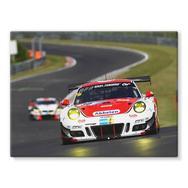 30 Frikadelli Racing Team, Porsche 991 GT3-R - Stretched Canvas