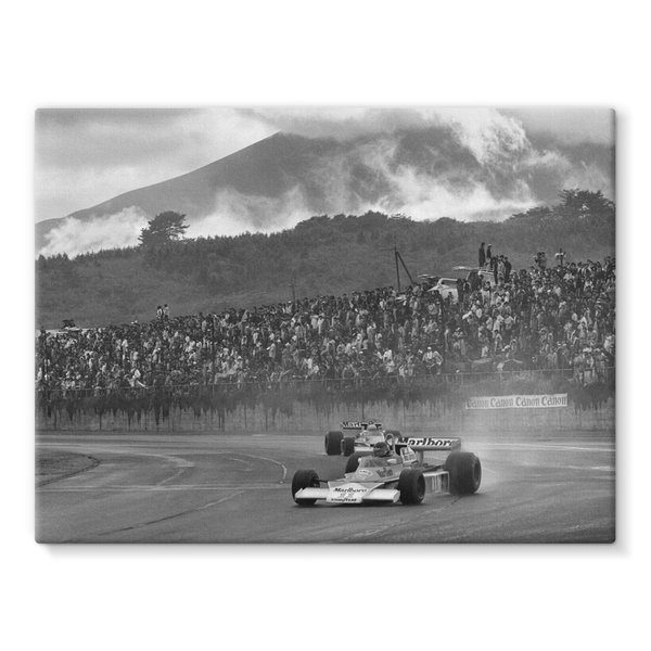 James Hunt McLaren M23 Ford - Stretched Canvas