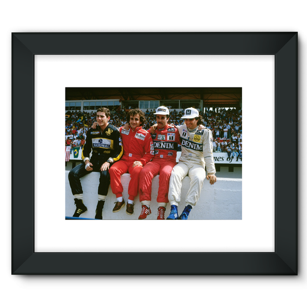 1986 Portuguese Grand Prix Championship Contenders. Nigel Mansell, Nelson Piquet, Alain Prost and Ayrton Senna