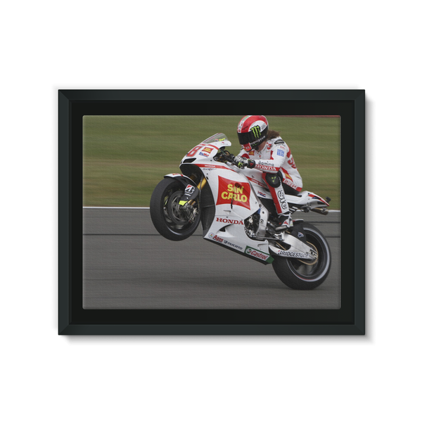 Marco Simoncelli, 2011 British Grand Prix at Silverstone - Framed Canvas