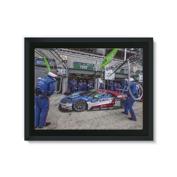 Pit Stop - Racing Ford GT - Framed Canvas