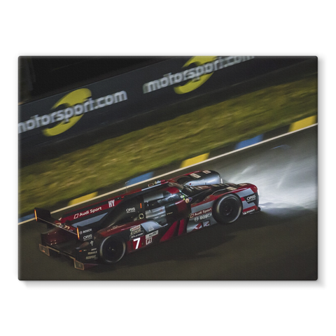 7 Audi Sport Team Joest Audi R18 - Stretched Canvas