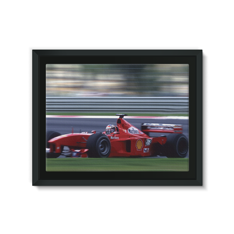 Michael Schumacher, Ferrari - Framed Canvas