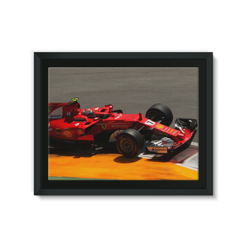Kimi Raikkonen, Ferrari SF70H - Framed Canvas