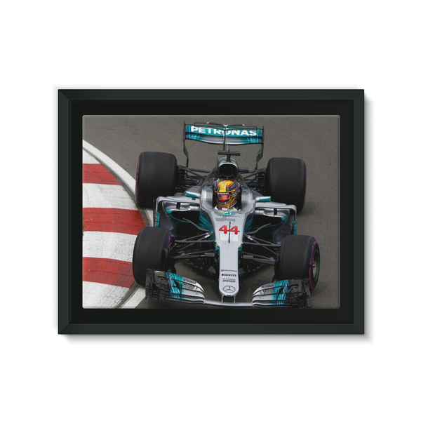 Lewis Hamilton, Mercedes AMG F1 W08 - Framed Canvas