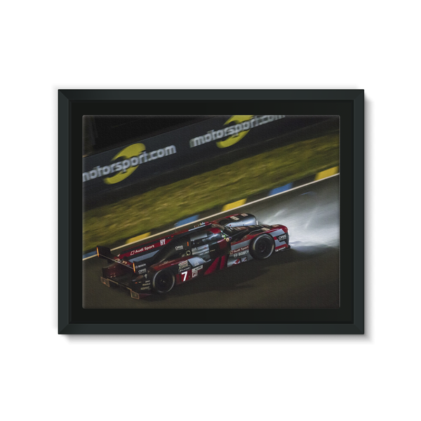 7 Audi Sport Team Joest Audi R18 - Framed Canvas