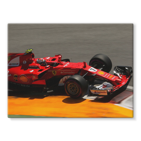 Kimi Raikkonen, Ferrari SF70H - Stretched Canvas