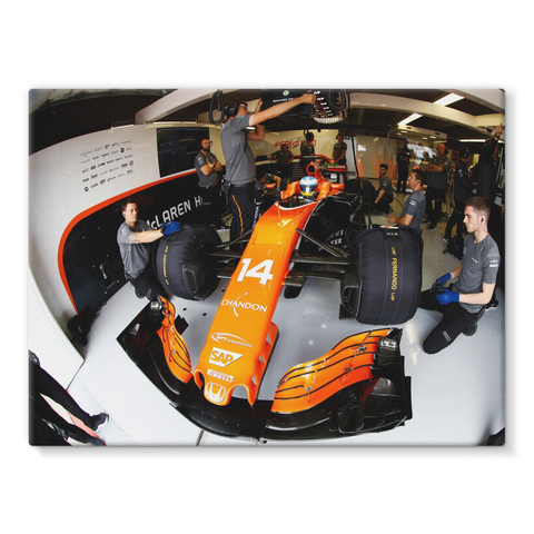 Fernando Alonso, McLaren MCL32 - Stretched Canvas