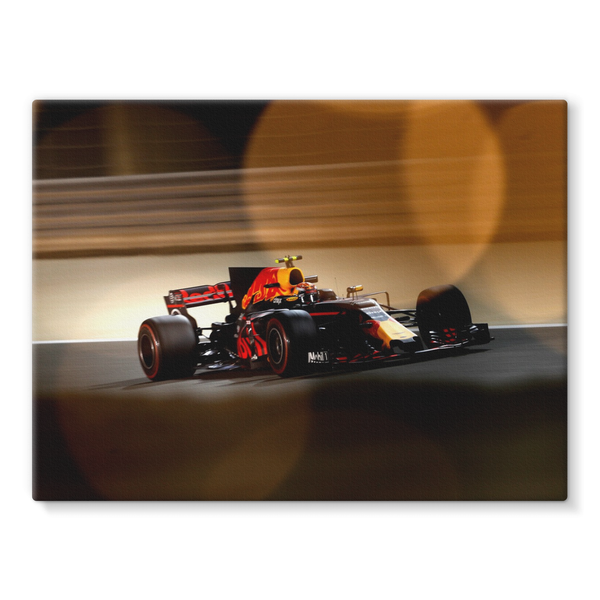 Max Verstappen, Red Bull Racing RB13, Bahrain GP - Stretched Canvas