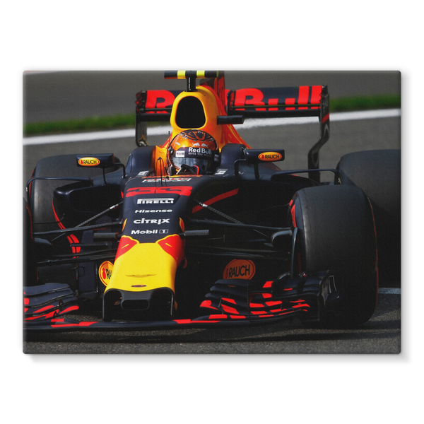 Max Verstappen, Red Bull Racing RB13, Belgian GP - Stretched Canvas