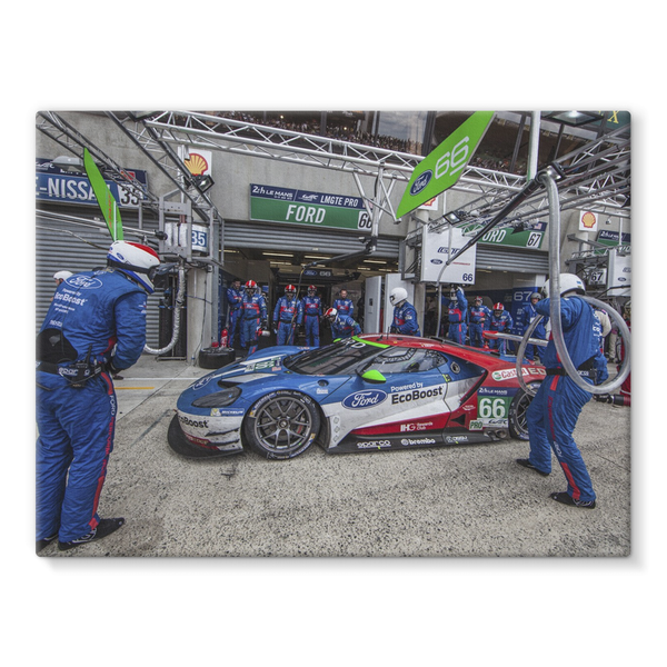 Pit Stop - Racing Ford GT - Stretched Canvas