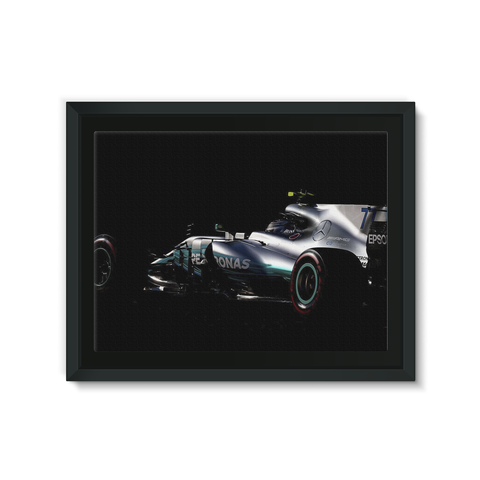 Valtteri Bottas, Mercedes AMG F1 F1 W08 - Framed Canvas
