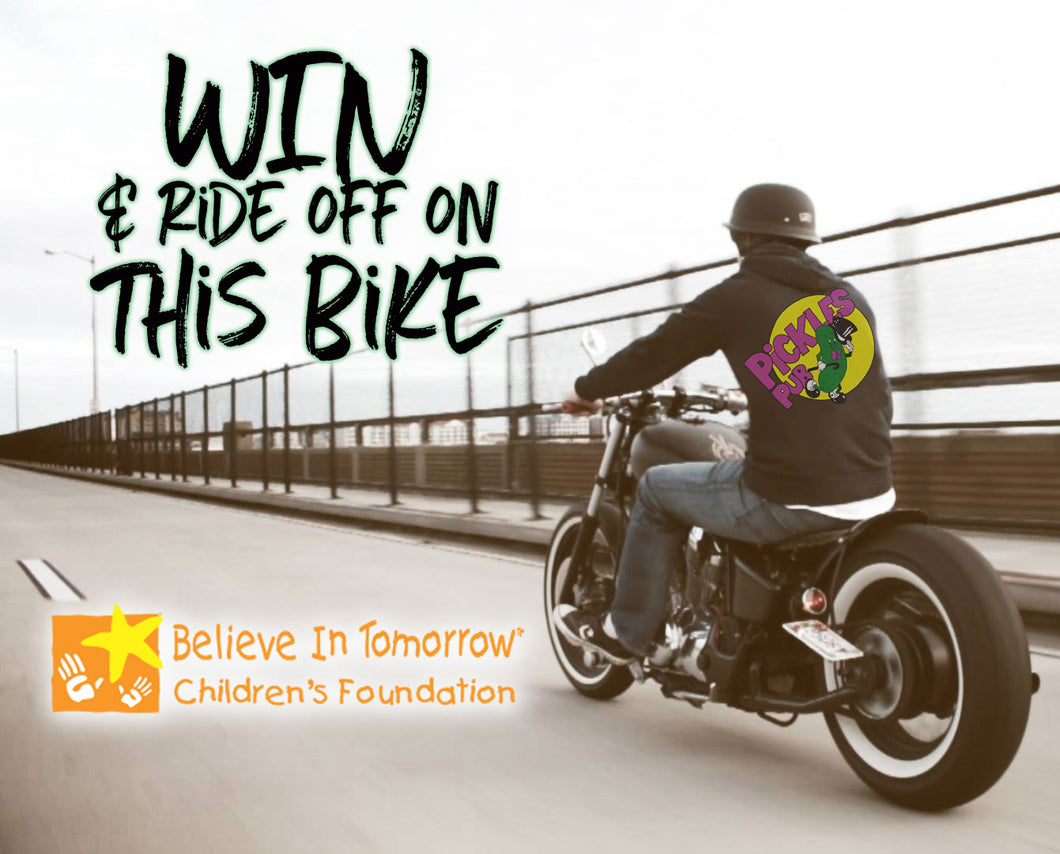 3 for $100 Motorcycle Raffle Ticket to Support Believe in Tomorrow