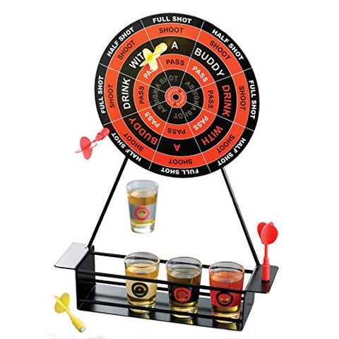 Koncpt U:Crystal Clear Shot Glass Darts Bar Game Set, Koncpt U