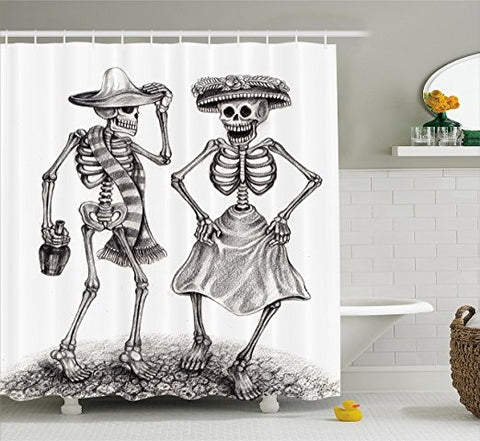 Koncpt U:Shower Curtain Mexican Celebration, Koncpt U