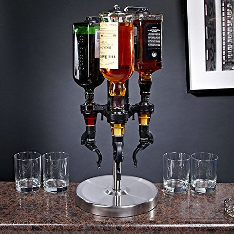 Koncpt U:Professional 3-Bottle Revolving Liquor Dispenser, Koncpt U