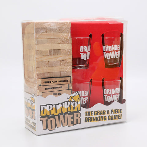 Koncpt U:Drunken Tower Jenga games Drinking Game, Koncpt U