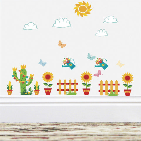 Koncpt U:3d garden plants flower wall stickers, Koncpt U