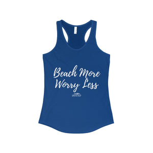Shores East Beach More Worry Less Racerback Tank