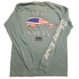 Shores East Salt Sprayed American Mahi Long-Sleeve Tee