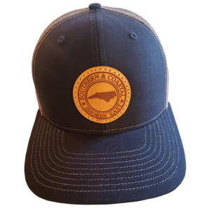 Shores East NC Southern & Coastal Leather Patch Hat