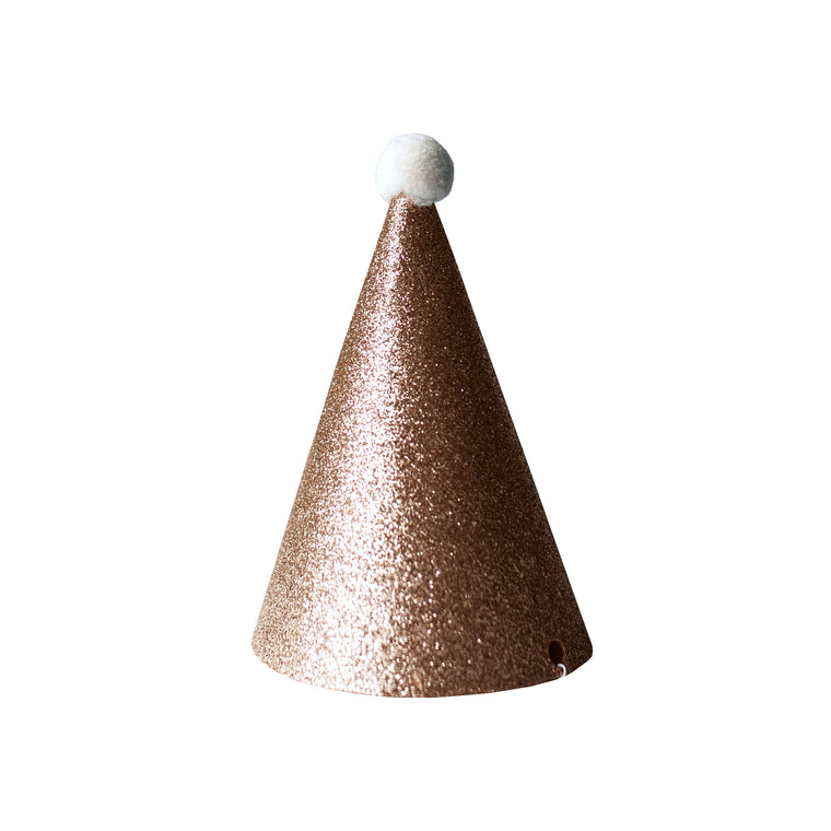 Gold Party Hats (Set of 3)
