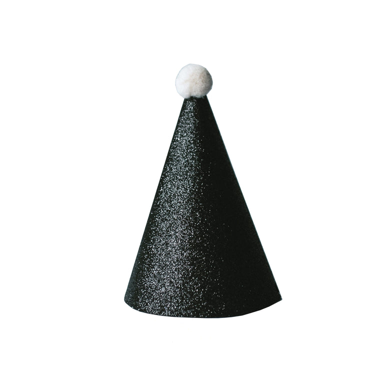 Black Party Hats (Set of 3)