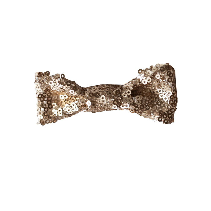 Fable Heart Matte Gold Hair Bow