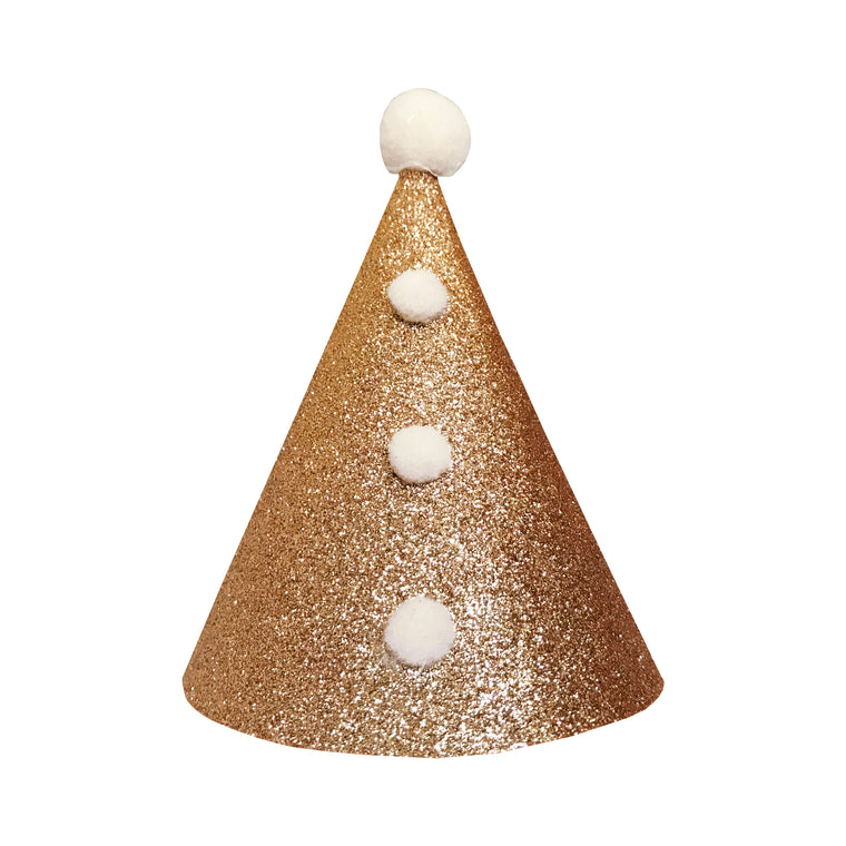 Gold Pierrot Party Hat