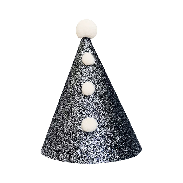 Silver Pierrot Party Hat